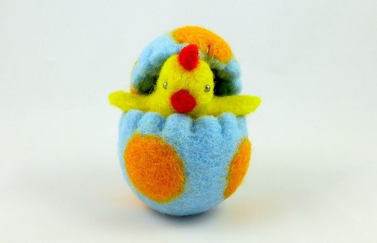 Wool Felted Easter Chick in an Easter Egg. Waldorf Toy. Easter Decoration. Spring Home Decor. Easter Ornament. Wool Easter Egg. Wool Toy by MiaPuPe on Etsy