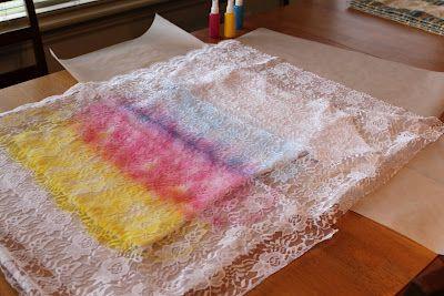 Lace, Spray Paint Shirt