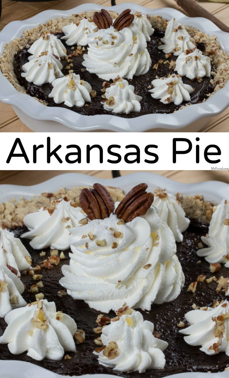 "Arkansas Pie, also called ""possum pie,"" is a creamy, chocolaty pie that fools folks into thinking it's another kind of pie!"