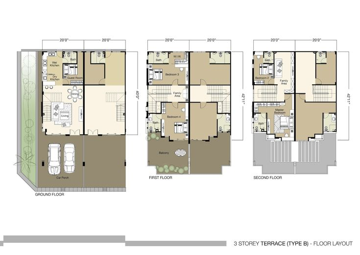 3 story house floor plans imagearea info pinterest