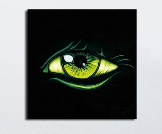 peinture oeil vert fond noir tableau art oeil vert jaune nadia chevrel art pinterest. Black Bedroom Furniture Sets. Home Design Ideas