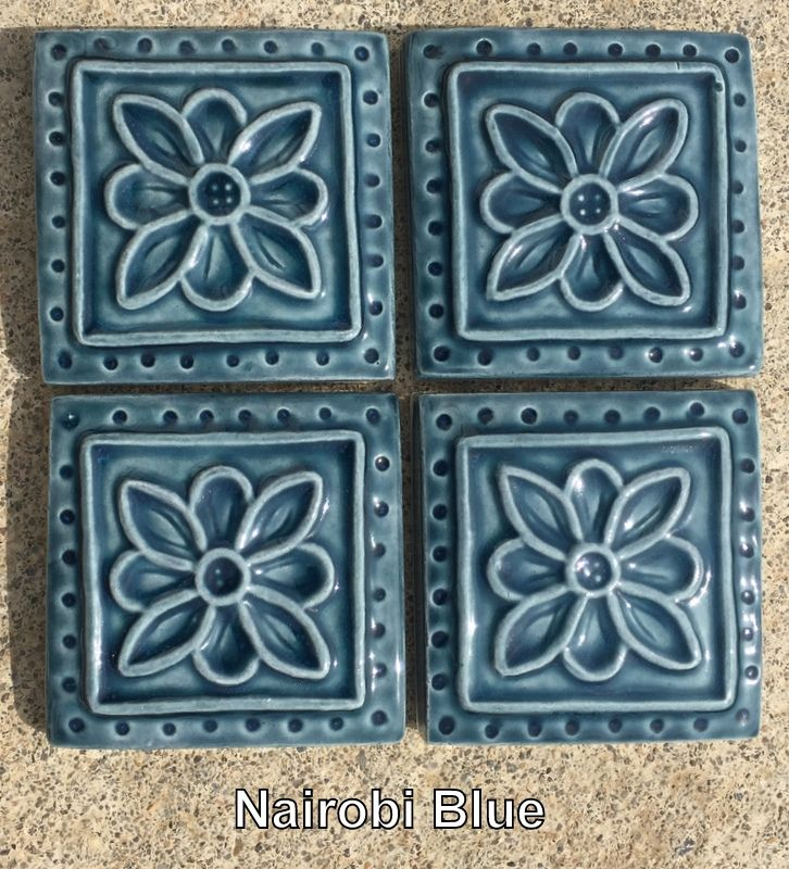 9 Colors In Stock 2x2 Embroidered Clay Rosette Accent Tiles Etsy In 2020 Accent Tile Tile Art Tiles