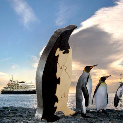 """Пазлы деревянные """"Пингвин"""". Развивающая игрушка. - бежевый,пазлы,развивающая игрушка"""