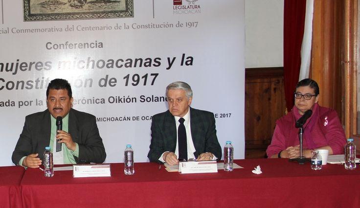 """La historiadora, Verónica Oikión Solano, dijo que """"La propuesta de incluir los derechos políticos de las mujeres no tuvo eco en el Constituyente del 1917, prevaleciendo los puntos de vista ..."""