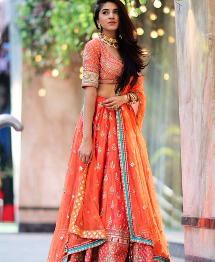 Gorgeous orange lehenga --thesnobjournal