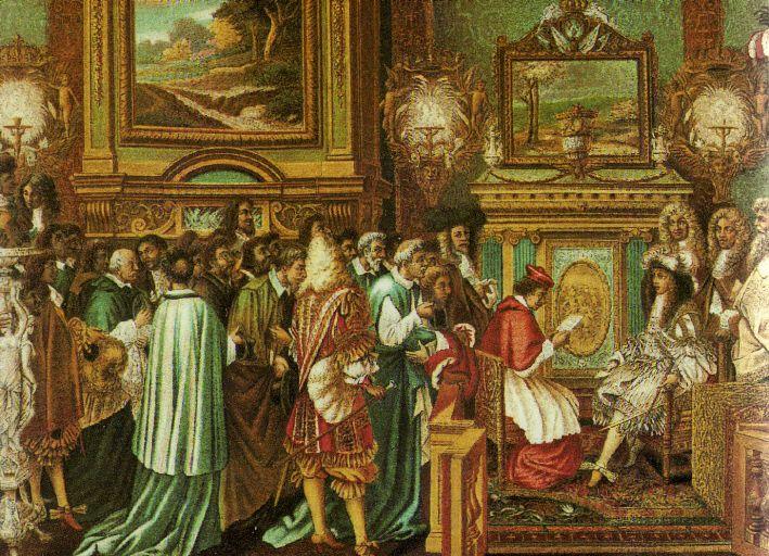 Louis XIV receiving the Pope's ambassador