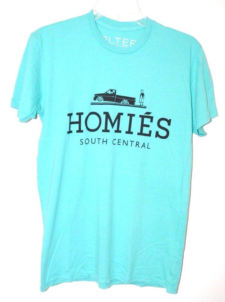 BLTEE Men's Brian Lichtenberg Homies South Central T-shirt Turquoise *XS-XL #BrianLichtenberg #GraphicTee
