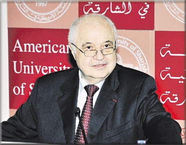 HE Dr. Talal Abu-Ghazaleh delivers a lecture entitled TAG A Life Journey Blessed by Suffering at American University of Sharjah AUS - March 15 2012Al-Khaleej Newspaper.