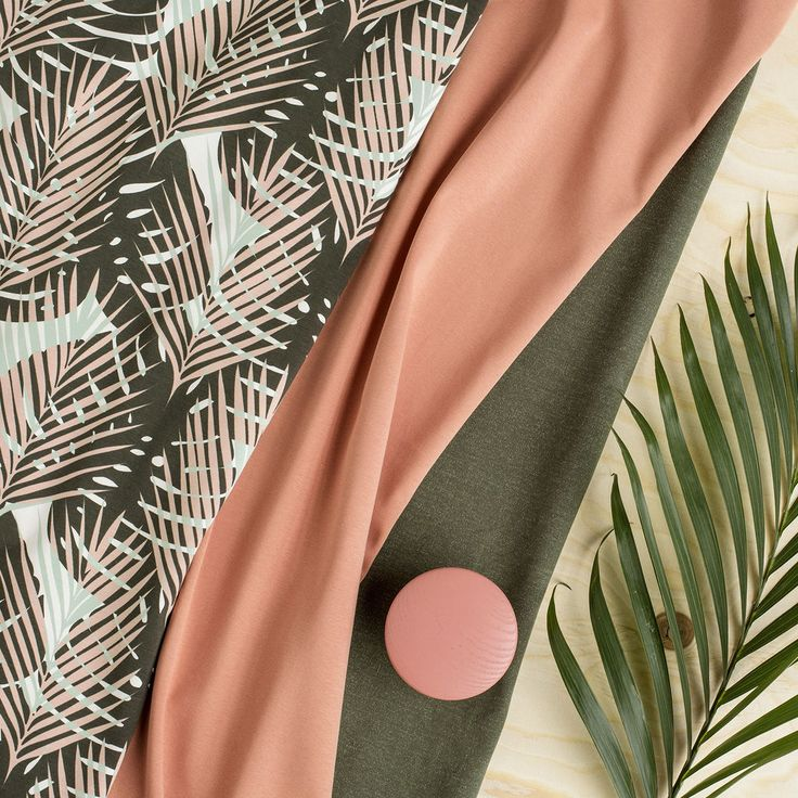 LUMO, oliivi - puuteriroosa | NOSH verkkokauppa  | Get inspired by new NOSH fabrics for Spring 2017! Discover new colors, prints and quality organic cotton. Shop new fabrics at en.nosh.fi