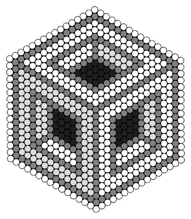 Billedresultat for black and white hama beads