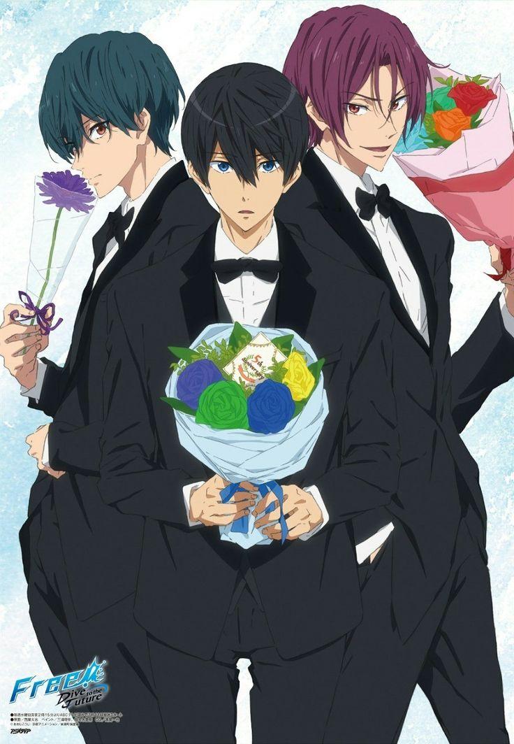 Free! Dive to the Future Haru, Rin, and Ikuya Animé