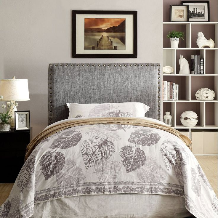 Twin Size Headboard Only - Grey . . . #furniture #homedecor #interiordesign #design #decor #home #living #office #family #entertainment #luxury #affordable #sale #discount #freeshipping #canada #toronto #usa #america #fashion #design #bedroom #comfort #happy #style #rest #relax