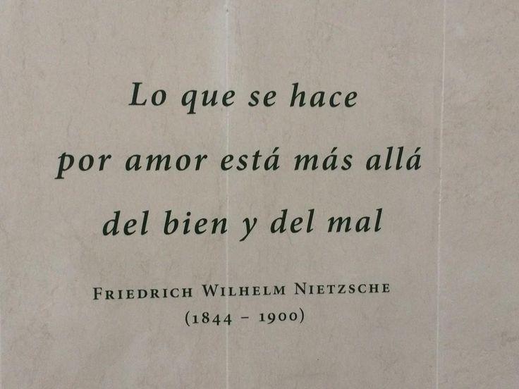 """""""Lo que se hace por amor está más allá del bien y del mal"""" ♥"""
