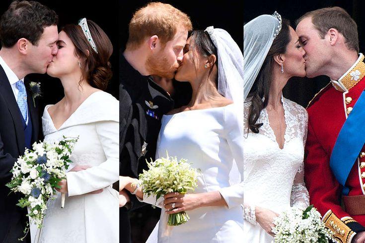 Hochzeitskusse Der Royals Der Grosse Unterschied Zwischen Eugenie Kate Und Meghan Kate Middleton Hochzeit Prinzessin Eugenie Royale Hochzeiten