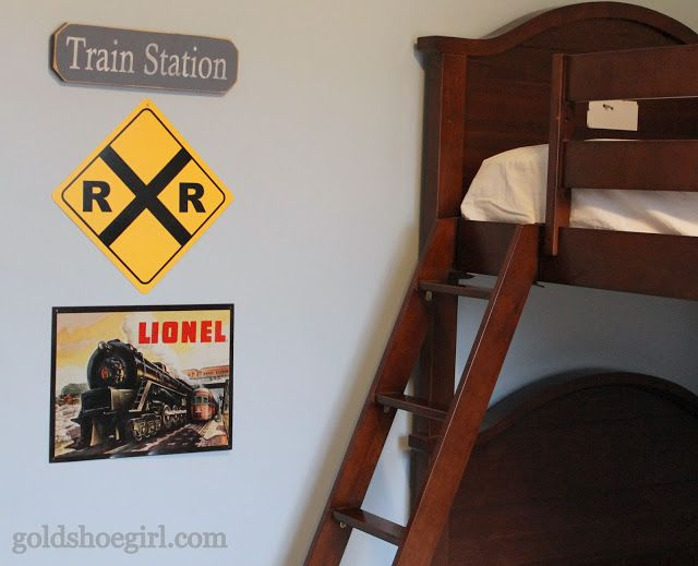 Boy's Train Bedroom Before & After
