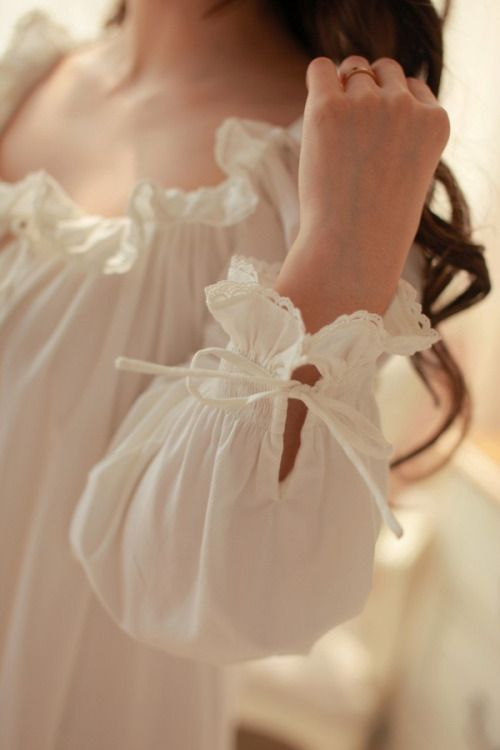 A lady has a particular fondness for a lovely night gown. ♡