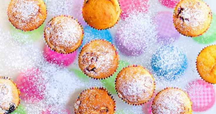 Muffin cu fructe de padure