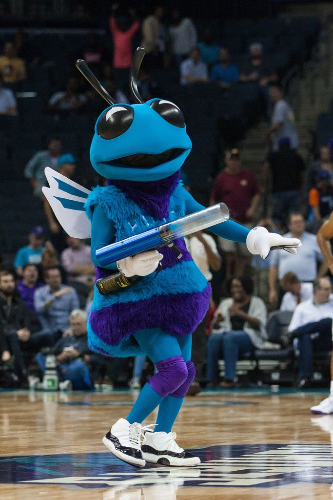 Hugo the Hornet wearing the 'Concord' Air Jordan XI 11