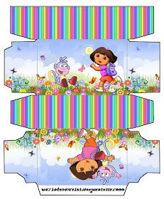 Dora the Explorer: Free Printable Party Boxes.