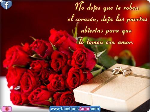 Frases De Amor Es Con Corazon: Postales De Rosas Para El Amor