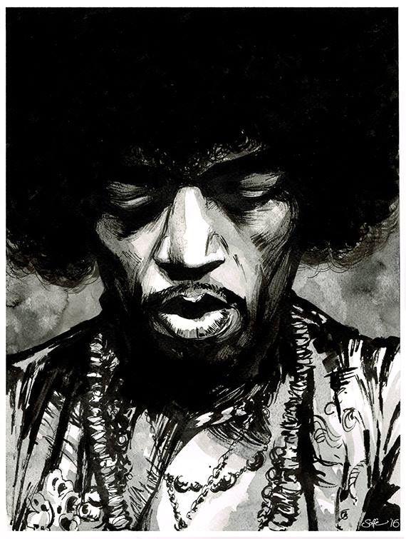 Jimi Hendrix by Matt Soffe