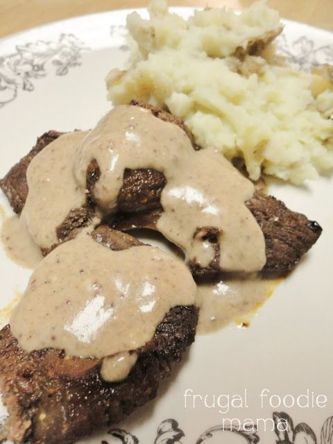 Frugal Foodie Mama: Red Wine Marinated Venison with a Red Wine Cream Sauce #venison #redwine #deer