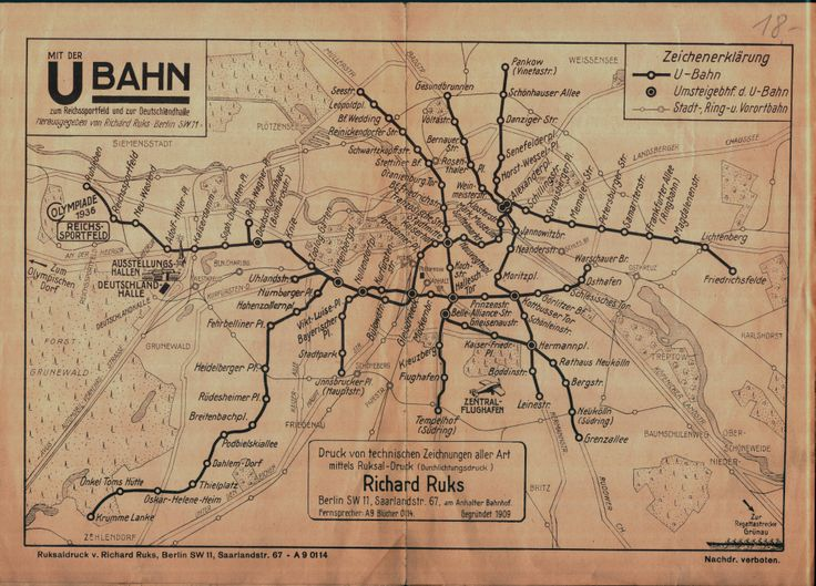 Historical Maps: Berlin S- and U-Bahn Maps, 1910-1936