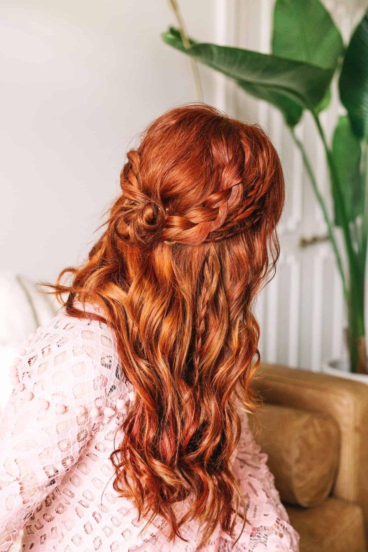 Braided Wavy Boho Hair Tutorial - A Beautiful Mess | Boho hair tutorial, Boho hairstyles, Hair tutorial