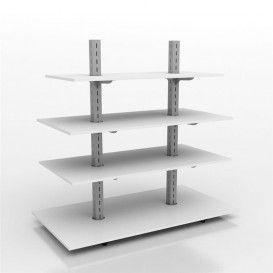 Ξύλινη Ραφιέρα Ρυθμιζόμενη Δείτε το :: http://goo.gl/yGqot6  Κεντρικό έπιπλο γόνδολα με μεταλλικούς ορθοστάτες, βάθρο και ράφια από μελαμίνη. Τα ξύλινα ράφια ρυθμίζονται καθ'ύψος πάνω σε μεταλλικούς βραχίονες στήριξης.