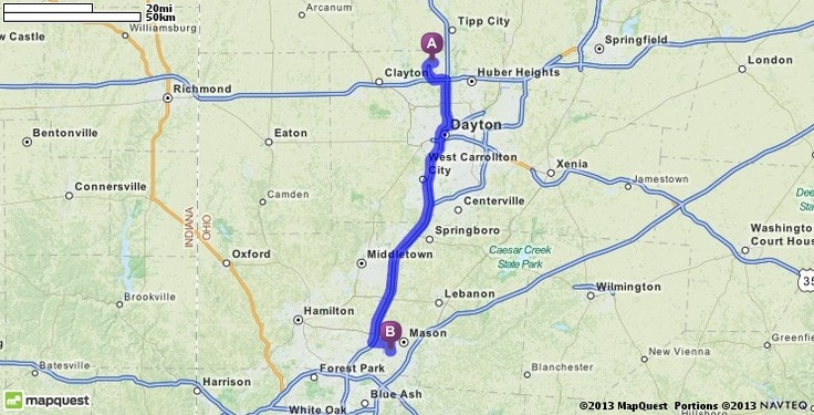 Driving Directions from Dayton International Airport (DAY) in Vandalia, Ohio 45377 to Western Row Elementary School in Mason, Ohio 45040 | MapQuest