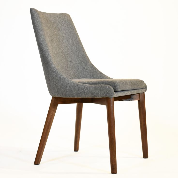 Pascal Dining Chair, Grey, Medium Walnut