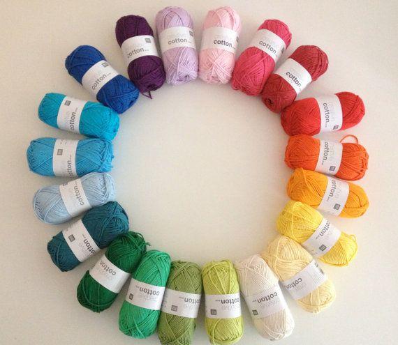 Knitting Color Wheel : Rico creative cotton aran worsted knitting yarn wool