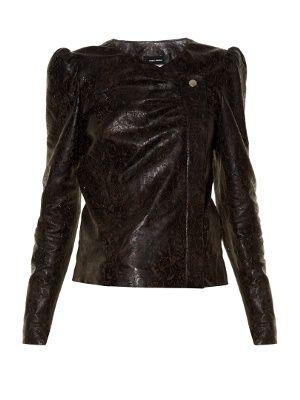 Connie laser-cut  leather jacket   Isabel Marant   MATCHESFASHION.COM UK