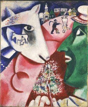 マルク・シャガール 《私と村》 1923-1924年頃 (c) ADAGP, Paris & JASPAR, Tokyo, 2015, Chagall(R) E1843