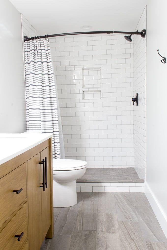 Modern Bathroom With Wood Vanity Neutral Modern Bathroom