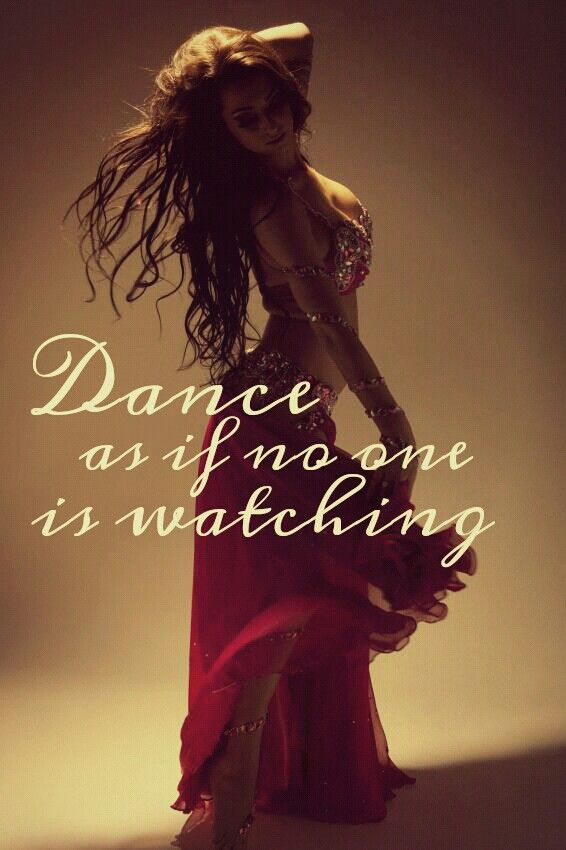 Of course if your bellydancing everyone is watching.  Who says you can't look beautiful while exercising?