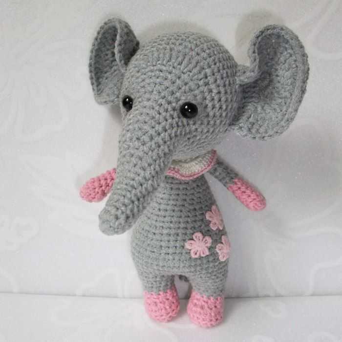 elefante del ganchillo - patrón de amigurumi gratis