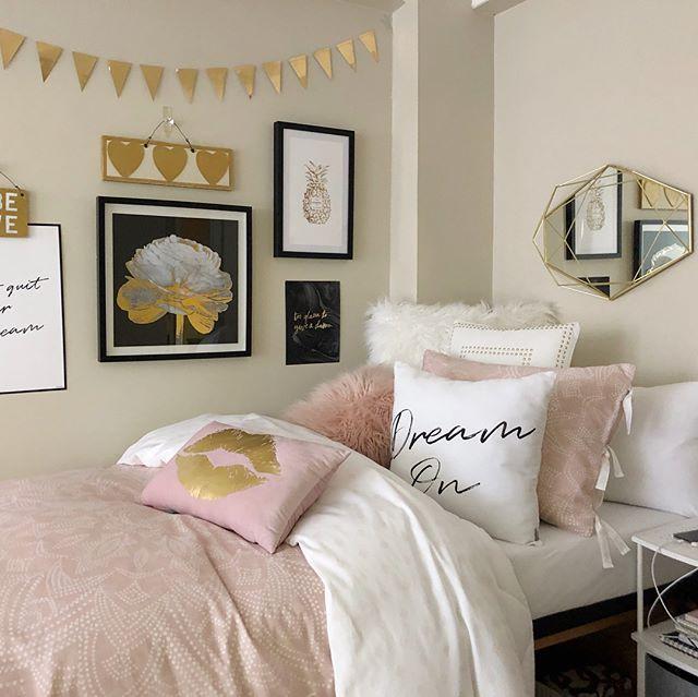 Dusty Rose Vs Light Pink Pink Dorm Rooms Pink Bedroom Decor