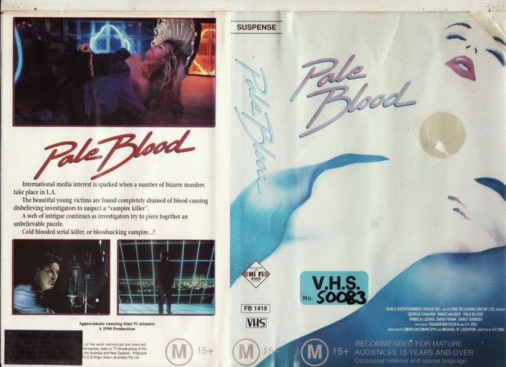 PALE BLOOD (Wings HAUSER, George CHAKIRIS, Pamela LUDWIG (RUSH WEEK & RACE for GLORY, 1989), Darcy DEMOSS & Sybil DANNING (L.A. BOUNTY), NOBLE ENTERTAINMENT GROUP & TITAN FILM INTERNATIONAL (TRAPPER COUNTY WAR), 1990), PAL VHS, M.C.E.G. VIRGIN VISION/RCA COLUMBIA PICTURES VIDEO, FB 1419, videoclub, vampiri, macchie di vino, ristoranti, cucine, moda hippie chic, nouvelle vague, Jane BIRKIN, Charlotte GAINSBOURG, #natalieoffduty, Natalie off Duty, Natalie LIM SUAREZ, Natalie SUAREZ & indie…