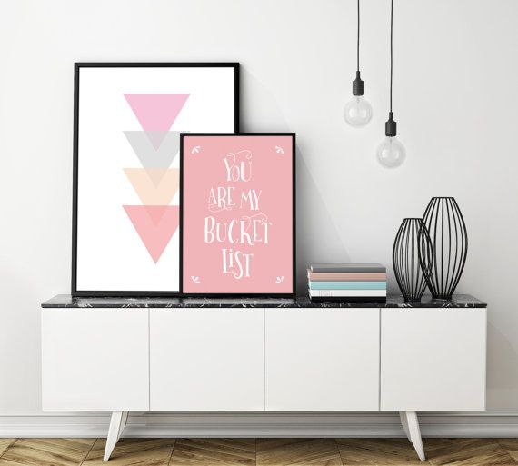 You are searching for the perfect decoration touch for your home or a print for a nursery room ? This Printable Art is a typographic downloadable print featuring You are my bucket list in White on a light pink background.