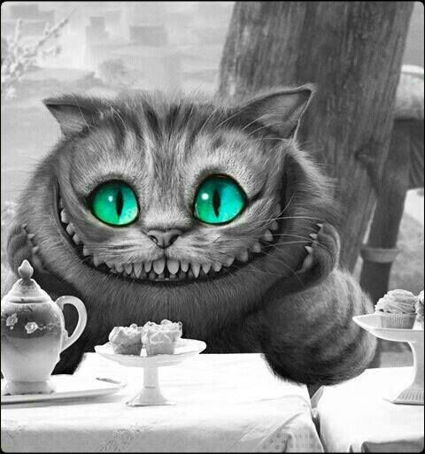 Cheshire Cat:Oh, by the way, if you'd really like to know, he went that way.  Alice:Who did? Cheshire Cat:The White Rabbit. Alice:He did? Cheshire Cat: He did what? Alice:  Went that way.  Cheshire Cat:Who did?  Alice:  The White Rabbit.  Cheshire Cat: What rabbit?  Alice: But didn't you just say - I mean - Oh, dear.  Cheshire Cat:Can you stand on your head?  Alice:Oh!