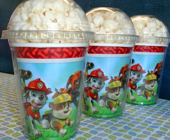 Paw Patrol Birthday Party Popcorn Boxes By JaymesPartyBox On Etsy