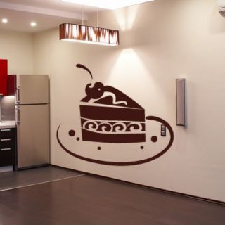 Наклейка для дома от 2stick.ru Кусочек торта на тарелке