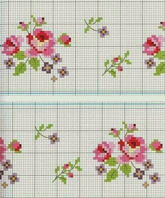 ♥ Benim açımdan Grafikler Cruz ♥: Çapraz Dikiş Güller grafikleri