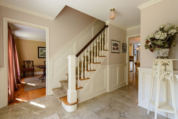 7 best center hall colonial ideas images on pinterest for Colonial foyer ideas