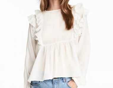 Frilled blouse