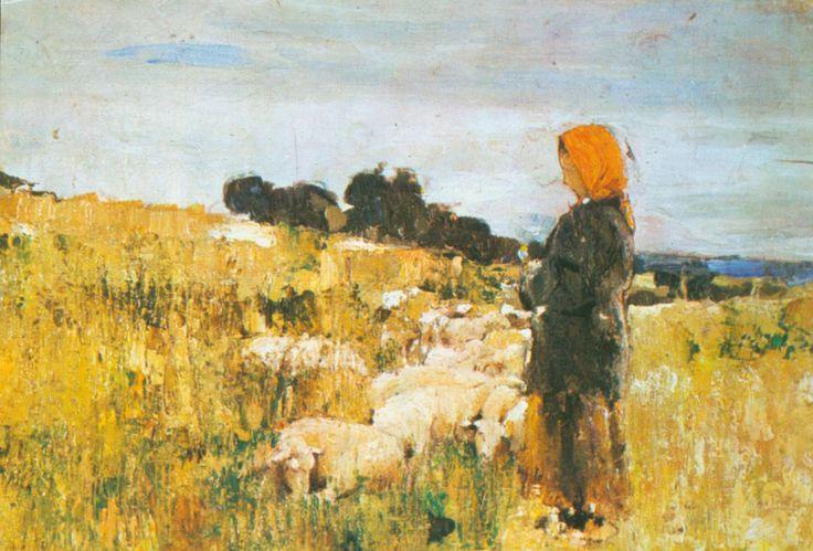 Shepherdess -Stefan Luchian