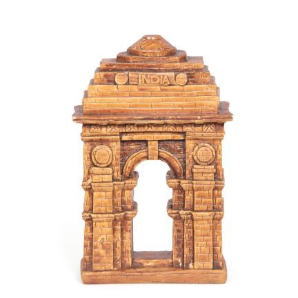 Shilp India Gate Paper Weight - Keep your letters and documents in place with this paper weight. It is shaped like the India Gate in the country's capital and is made of poly resin. The brown colored paper weight is ideal for the home and office.Each product is diligently handcrafted by skilled artisans using various traditional techniques. Intricate artistry and superlative craftsmanship are the highlights of these products. Each piece is unique in its own way and therefore there can be a…