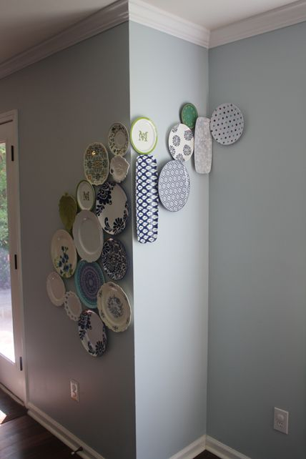 Interesting plate wall  Exceptionally Eclectic – What a View