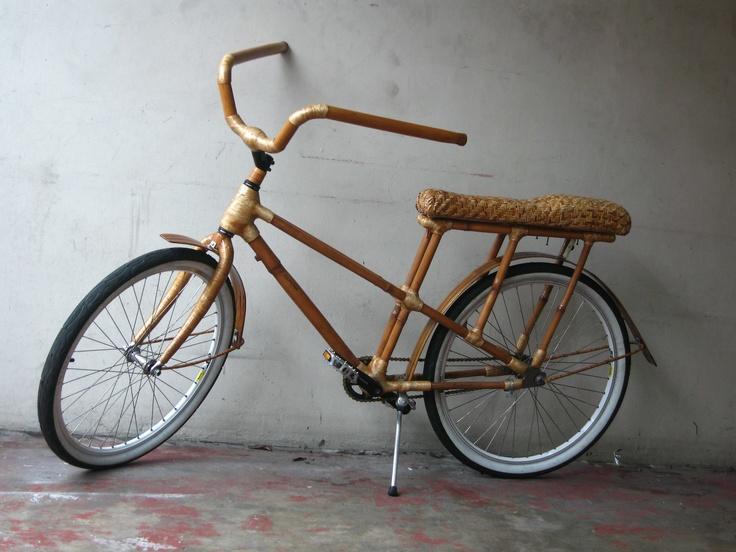Bamboo dragster bike! The BamBeach Cruiser 2.0 design has